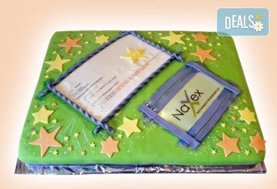 Фирмена торта с лого, индивидуален дизайн и брой парчета по избор от Сладкарница Джорджо Джани - Снимка 13