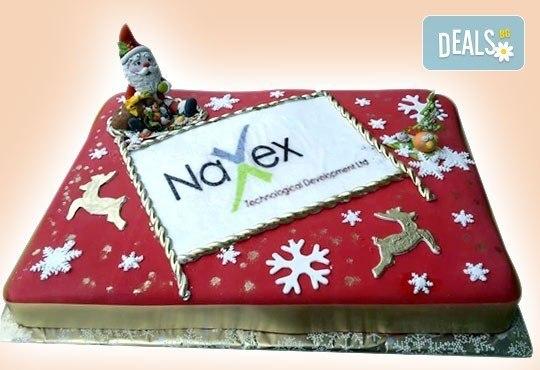 Фирмена торта с лого, индивидуален дизайн и брой парчета по избор от Сладкарница Джорджо Джани - Снимка 5
