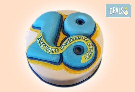 Изкушаващо вкусна бутикова АРТ торта с цифри и размер по избор от Сладкарница Джорджо Джани - Снимка 8