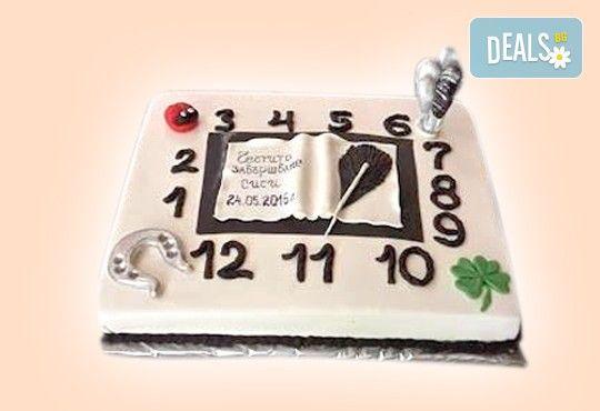 Изкушаващо вкусна бутикова АРТ торта с цифри и размер по избор от Сладкарница Джорджо Джани - Снимка 12