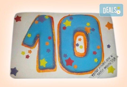 Изкушаващо вкусна бутикова АРТ торта с цифри и размер по избор от Сладкарница Джорджо Джани - Снимка 13