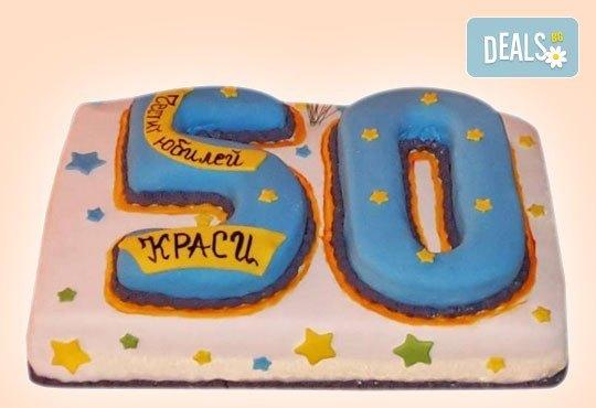 Изкушаващо вкусна бутикова АРТ торта с цифри и размер по избор от Сладкарница Джорджо Джани - Снимка 5