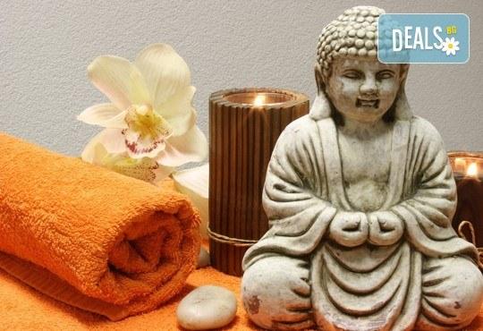 120-минутен SPA-MIX – Тибетски Ку Ние масаж на цяло тяло, Hot-Stone терапия с вулканични камъни, тест за определяне на доша и йонна детоксикация в център GreenHealth - Снимка 3