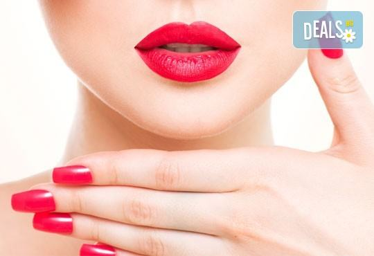 Нежни ръце и красиви нокти! Траен маникюр с най-новите гел лакове на Astonishing Nails и декорации по избор от Дерматокозметични центрове Енигма - Снимка 1