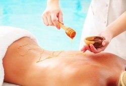 Лечебен детоксикиращ масаж с мед и дълбокотъканен масаж на гръб, Wellness Center Ganesha