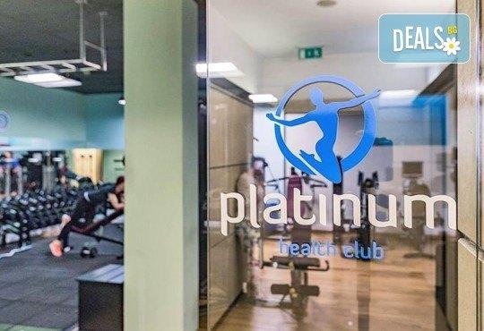 Посещение на фитнес, персонален треньор и посещение на СПА зона в новия Фитнес и спа център Platinum Health Club в центъра на София - Снимка 3