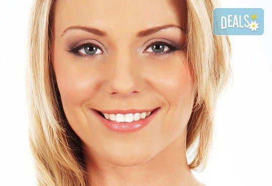 RF лифтинг и безиглената мезотерапия на цяло лице, шия и деколте, маска според типа кожа + БОНУС - почистване на вежди в Козметичен център DR.LAURANNЕ - Снимка 1