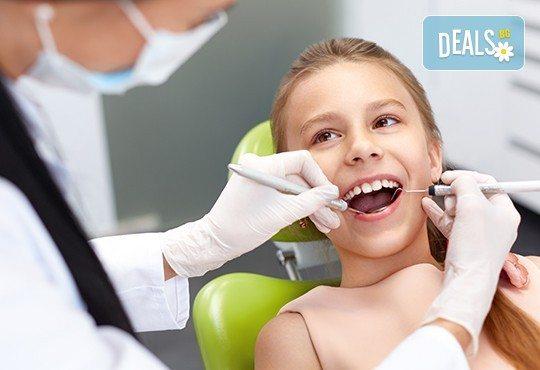 Превенция на детски зъби! Преглед от специалист ОРТОДОНТ и поставяне на силант на до 4 зъба, в стоматологичен център CRISTALDENT - Снимка 1