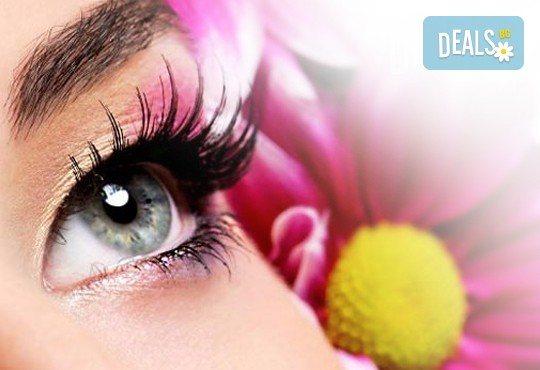 Удължаване и сгъстяване на мигли косъм по косъм от норка от салон Flowers 2 в Хаджи Димитър - Снимка 1