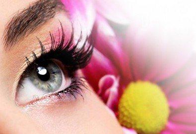 Удължаване и сгъстяване на мигли косъм по косъм от норка от салон Flowers 2 в Хаджи Димитър - Снимка