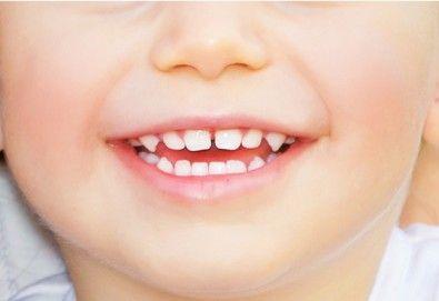 Преглед от специалист ортодонт и лечение с апарат (шина) на зъбно-челюстни деформации деца до 12 г, в стоматологичен център CRISTALDENT - Снимка