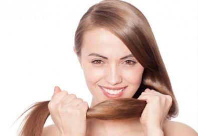 Терапия против косопад с реконструкция на косъма, сешоар и стайлинг по избор от Енигма в Пловдив и Варна - Снимка