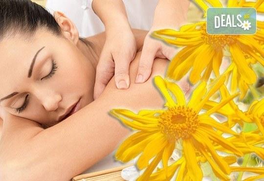 Спрете болката с лечебен масаж на цял гръб с арника от N&S Fashion зелен салон! - Снимка 3