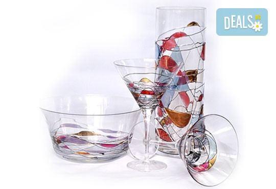 Стилни акценти! Висококачествена ваза или фруктиера от бариев кристал, ръчна изработка от Present For You! - Снимка 1