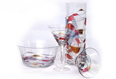 Стилни акценти! Висококачествена ваза или фруктиера от бариев кристал, ръчна изработка от Present For You! - Снимка