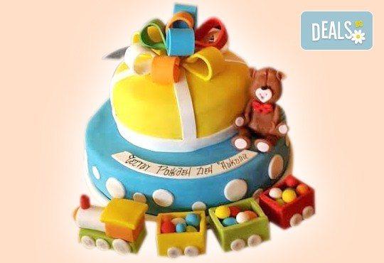 Детски торти MAX цветове с 2, 3 или 4 фигурки, фотодекорация и апликация по дизайн на Сладкарница Джорджо Джани! - Снимка 4