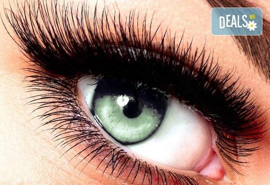Изкусителен поглед и изразителни очи чрез метода поставяне на мигли косъм по косъм и бонус от салон за красота Sassy! - Снимка 1