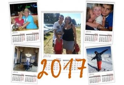 """Супер подарък за Вашите близки! Голям стенен """"7 листов календар"""" с 6 Ваши снимки от Офис 2 - Снимка"""