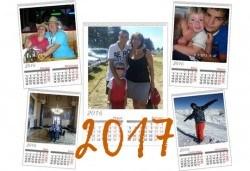 Голям 7 листов стенен календар с 6 любими снимки от Офис 2