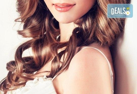 Измиване, терапия с инфраред преса, маска естествен млечен протеин Milk Shake и оформянe на прическа по избор - прав, начупен сешоар, шиш или преса в студио Beauty! - Снимка 3