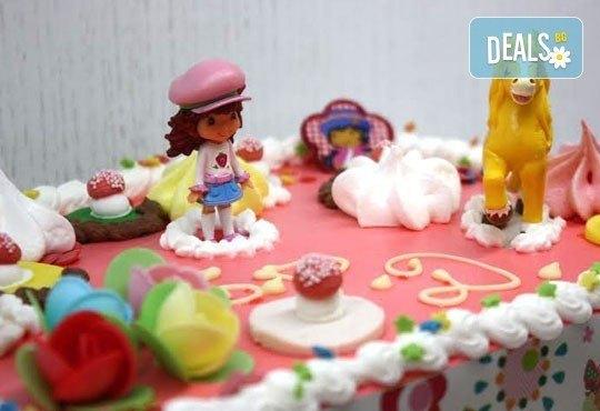 Детска торта за момче или момиче с пандишпанени блатове, пухкав ванилов крем и шоколадов мус , 20 х 25см, 1.500 кг, от сладкарница Сладост! - Снимка 4