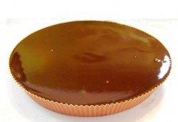 Шоколад, шоколад и пак шоколад! Шоколадовата пита от белгийски шоколад в луксозна опаковка и безплатен надпис, от Сладкарница Сладост! - Снимка