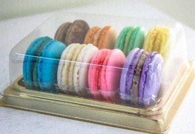 Изненадайте любим човек с 8 изкусителни френски макарона, поставени в луксозна кутия, от Сладкарница Сладост! - Снимка