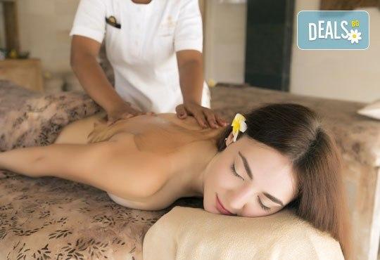 """Лечебен детоксикиращ масаж """"Ин-Ян"""", ароматерапия на цяло тяло и компрес с лечебна луга или мокса в Wellness Center Ganesha! - Снимка 1"""