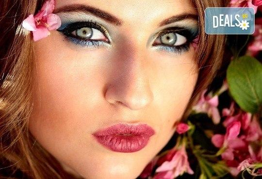Професионален грим по избор - дневен, вечерен, сватбен на адрес на клиента и бонус поставяне на мигли, Makeup Nails and Lashes by Katerina Nik - Снимка 1