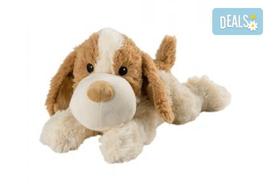 Плюшено нагряващо се легнало куче от Warmies - Снимка 1