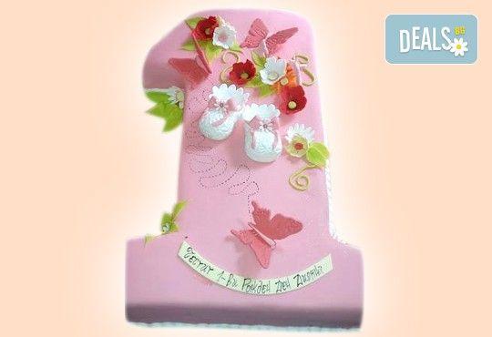 Честито бебе! Торта за изписване от родилния дом, за 1-ви рожден ден или за прощъпулник! Специална оферта на Сладкарница Джорджо Джани! - Снимка 1