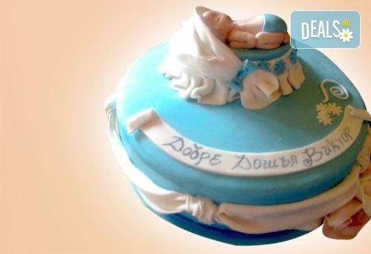 Честито бебе! Торта за изписване от родилния дом, за 1-ви рожден ден или за прощъпулник! Специална оферта на Сладкарница Джорджо Джани! - Снимка 4