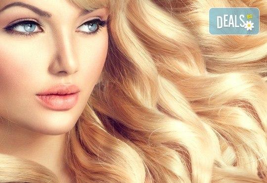 Нова визия! Подстригване, боядисване с боя на клиента, маска, терапия с италианска козметика и сешоар от салон Ванеси - Снимка 1