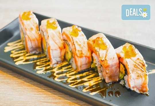 Вземете качествено суши на добра цена! Сьомга сет с 42 хапки от Club Gramophone - Sushi Zone! - Снимка 1