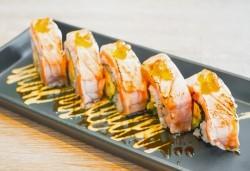 Вземете качествено суши на добра цена! Сьомга сет с 42 хапки от Club Gramophone - Sushi Zone! - Снимка