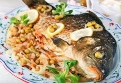 Пълнен шаран за Никулден по традиционна рецепта, Деличи