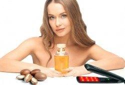 Арганова терапия с ултразвук и инфраред преса, подстригване по избор и оформяне със сешоар от N&S Fashion зелен салон! - Снимка