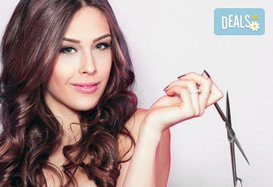 Кератинова терапия за коса с инфраред преса и ултразвук, с или без подстригване и оформяне на прическа от N&S Fashion зелен салон - Снимка 2