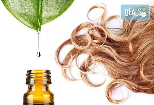 Боядисване на цялата коса или кичури, арганова затопляща терапия, ампула, масажно измиване и оформяне на прическа със сешоар в център Daerofit! - Снимка 2