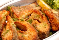 За Никулден! ЕДИН кг. пържен шаран и сафрид от ресторант Сан Мартин
