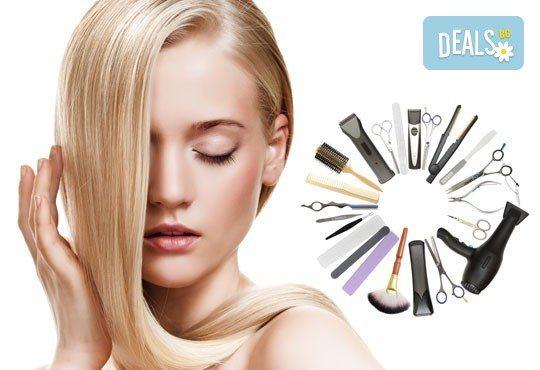 Терапия за коса с инфраред преса, оформяне в желаната прическа и подстригване или плитка от фризьор-стилист Лили Неделчева в студио Giro! - Снимка 3