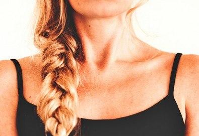 Терапия за коса с инфраред преса, оформяне в желаната прическа и подстригване или плитка от фризьор-стилист Лили Неделчева в студио Giro! - Снимка