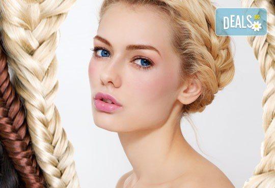 Терапия за коса с инфраред преса, подстригване, плитка и оформяне в желаната прическа от фризьор-стилист Лили Неделчева в студио Giro! - Снимка 2