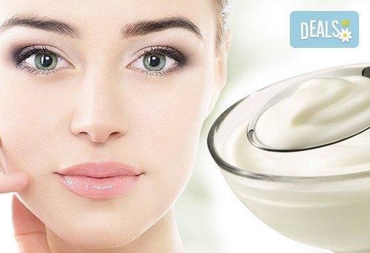 Подхранваща терапия за лице с българско кисело мляко от студио за красота Jessica
