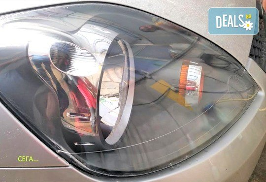 Дълготраен блясък за фаровете на автомобила и по-добра видимост на пътя! Полиране на 1 брой пластмасов фар от автомивка J&J! - Снимка 4