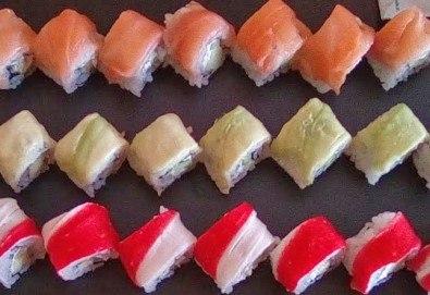 Вкусно суши на специална цена! Голям сет суши – Mioshi Sushi, 64 хапки голям сет суши от The Sushi - Снимка