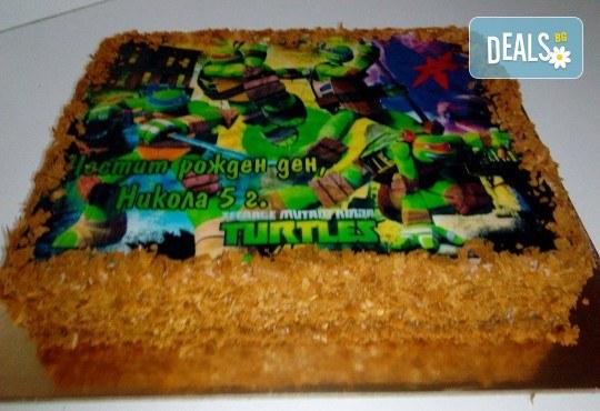 Детска торта 16 парчета със снимка на любим герой, декорация и надпис пожелание от Muffin House! - Снимка 6