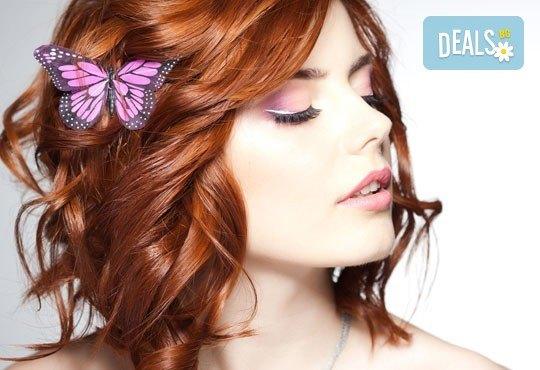 Боядисване, подстригване и оформяне на прическа със сешоар и подарък: арганова терапия в салон за красота Denny Divine! - Снимка 3