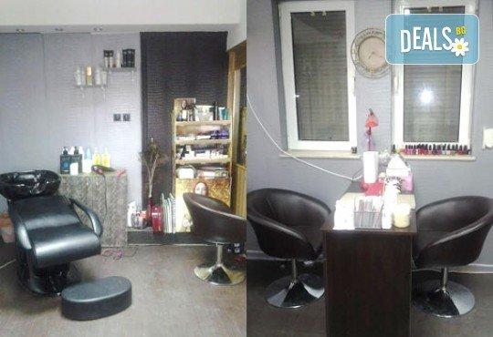 Боядисване, подстригване и оформяне на прическа със сешоар и подарък: арганова терапия в салон за красота Denny Divine! - Снимка 2