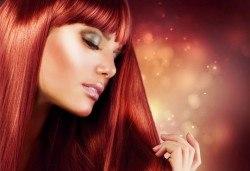 Боядисване с италианските бои Evolution + терапия с маска и серум + сешоар в Салон за красота Belisimas - Снимка